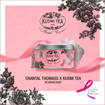 Limited edition of the solidary Kusmi tea box, designed by