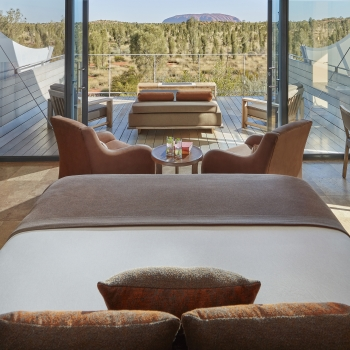 Sustainable hyper luxury glamping in Australia, with view