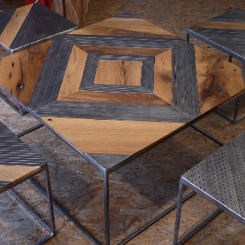 Furniture Made From Recycled Metal And, Metal And Wood Furniture